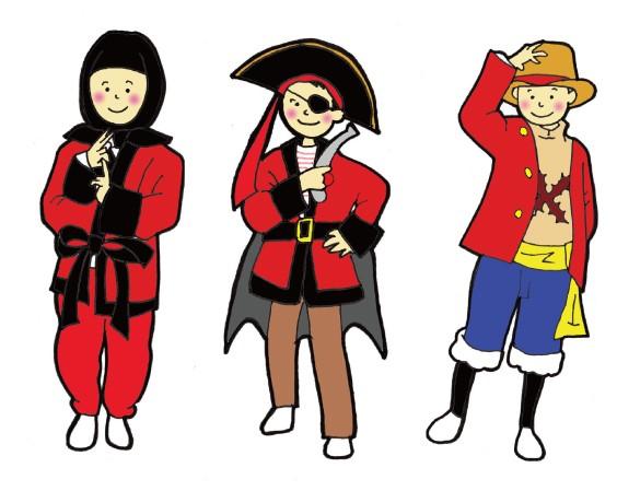 ハロウィン 忍者 海賊 ルフィ